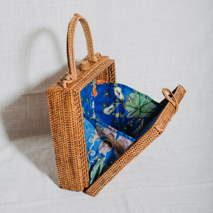 Handwoven Sower's Brown Box Bag