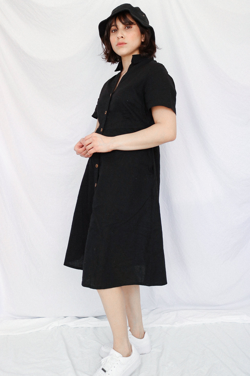 Sunday Shirt Dress - Black