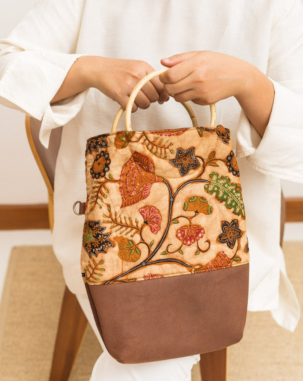 Batik Tote Bag. The Sastra Three-Way Tote. Heritage textiles for the modern women. Made by artisans.