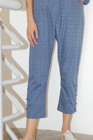 Not Long Ago Pants in Navy Ditsy