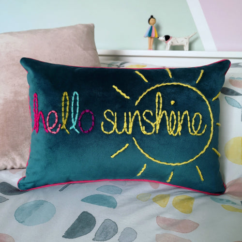 Hello Sunshine Velvet Cushion