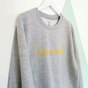 Hello Sunshine Embroidered Sweater