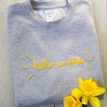 Load image into Gallery viewer, Hello Sunshine Embroidered Sweater