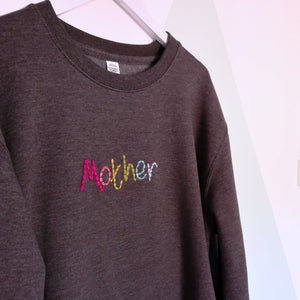 Rainbow Mother Embroidered Sweater