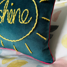 Load image into Gallery viewer, Hello Sunshine Velvet Cushion