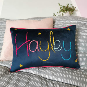 Rainbow Personalised Embroidered Cushion