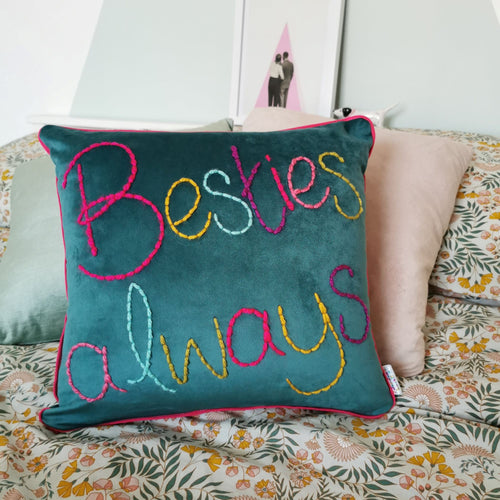 Personalised Colourful Velvet Cushion