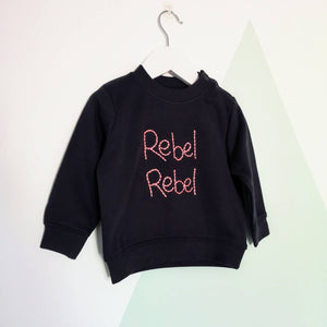 Rebel Rebel Hand Embroidered Sweater For Babies & Toddlers