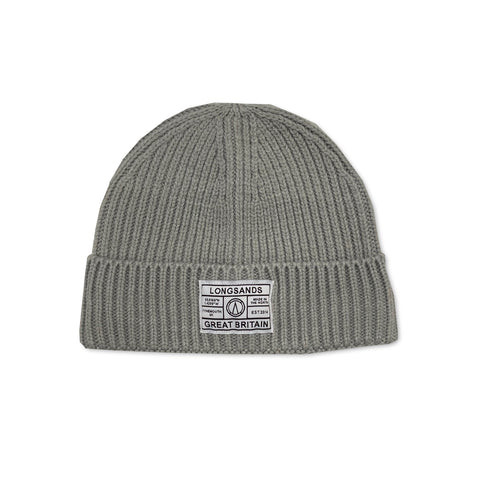 Ribbed Beanie - Silver