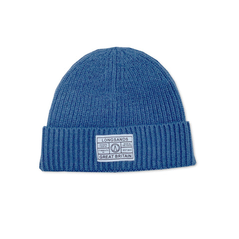 Ribbed Beanie - Steel Blue
