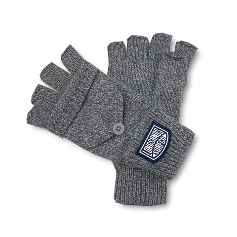 Longsands Flip-Top Gloves - Grey