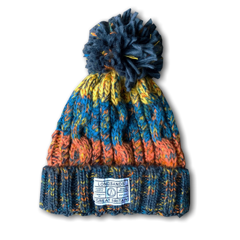 KIDS Chunky knit beanie - Orange