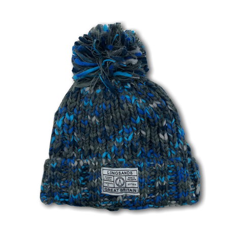 Twist Knit Beanie - Blueish