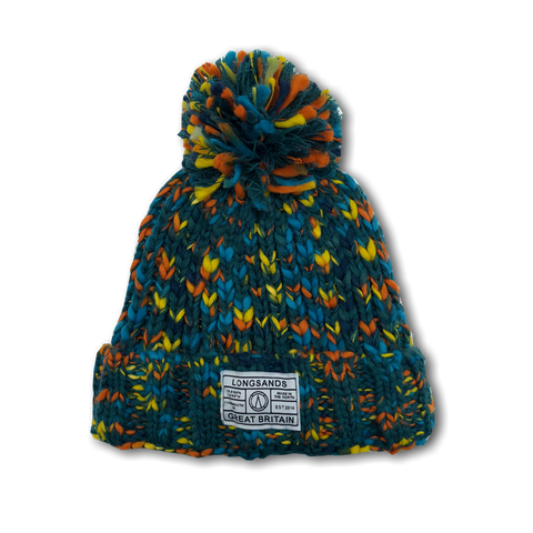 Twist Knit Beanie - Greenish