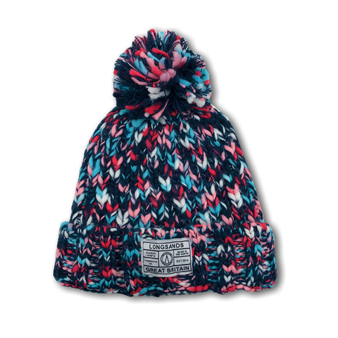 Twist Knit Beanie - Pinkish