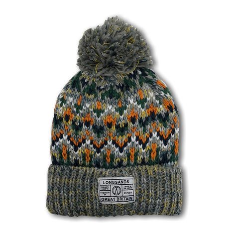 Alpine Knit Beanie - Orange