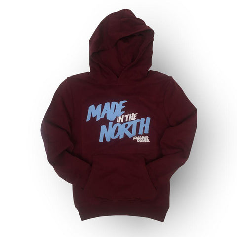Made in North kids Hoodie Maroon