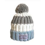 Chatel Knitted Beanie - Sky/White