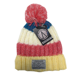Chatel Knitted Beanie - Pink/Yellow