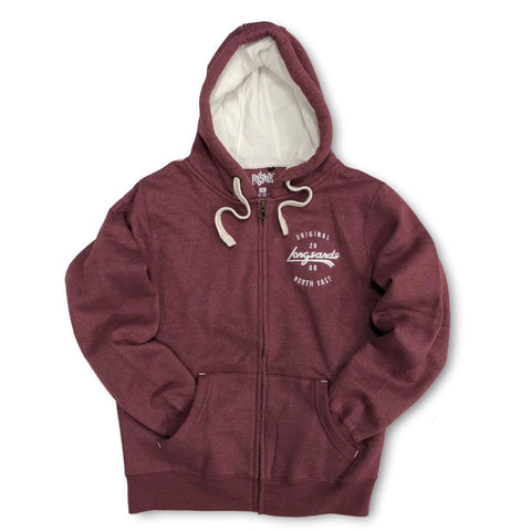 Base Zip Hood - Maroon