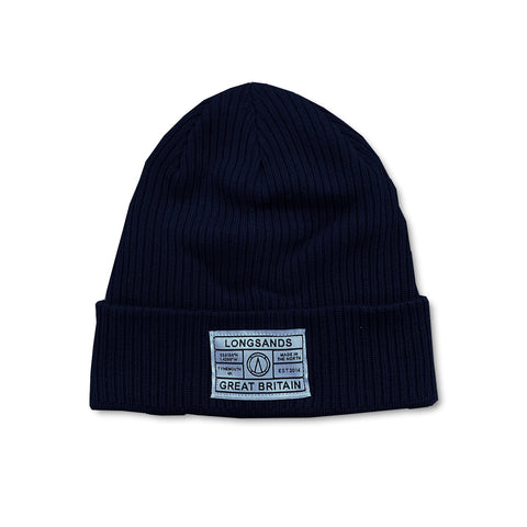 Organic Cotton Beanie - Navy