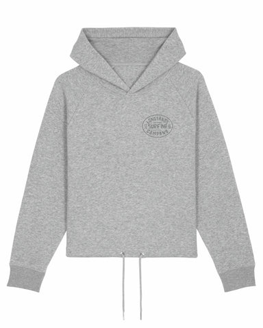 Womans Surf Inc. Boxy Hoody - Heather Grey
