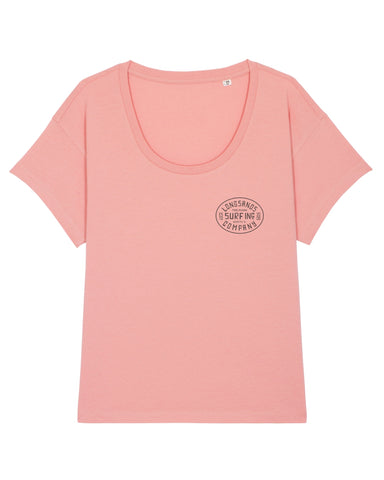 Womans Surf Inc. Relaxed Tee - Canyon Pink