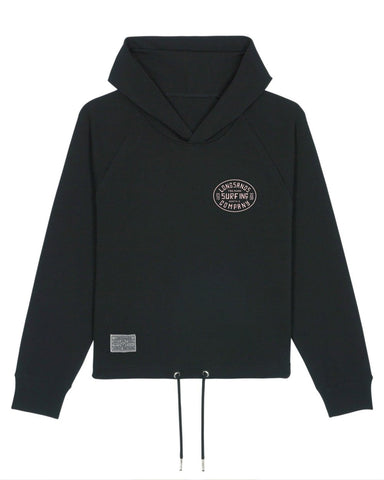 Womans Surf Inc. Cropped Hoody - Black