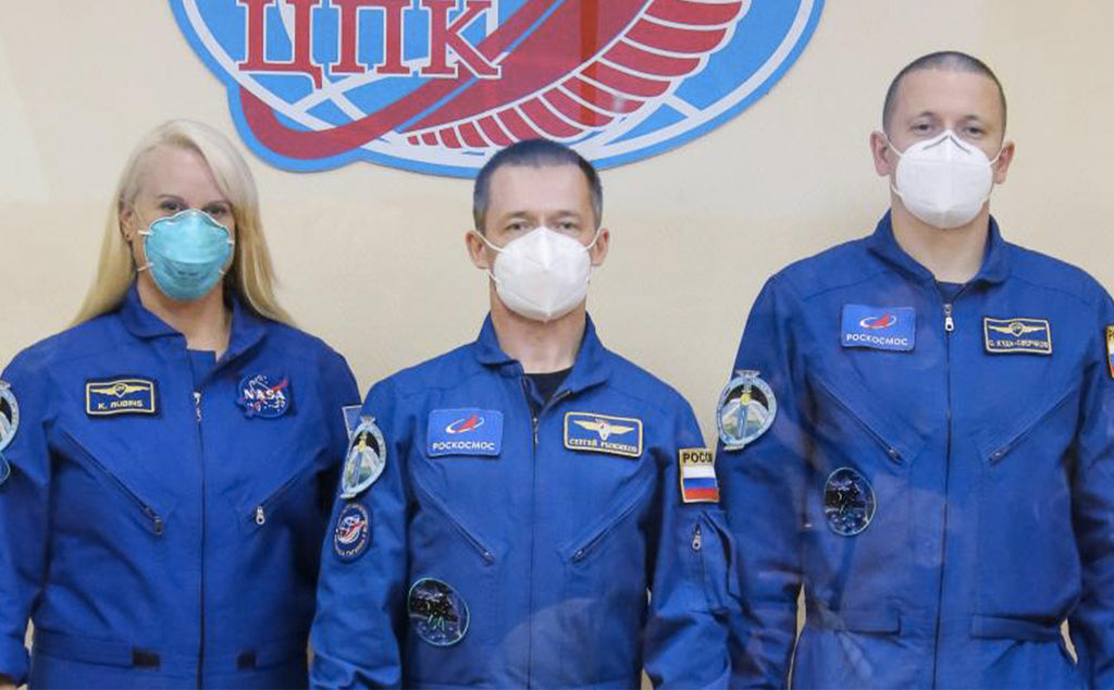 Two Russians and an American take off for the ISS aboard a Soyuz rocket