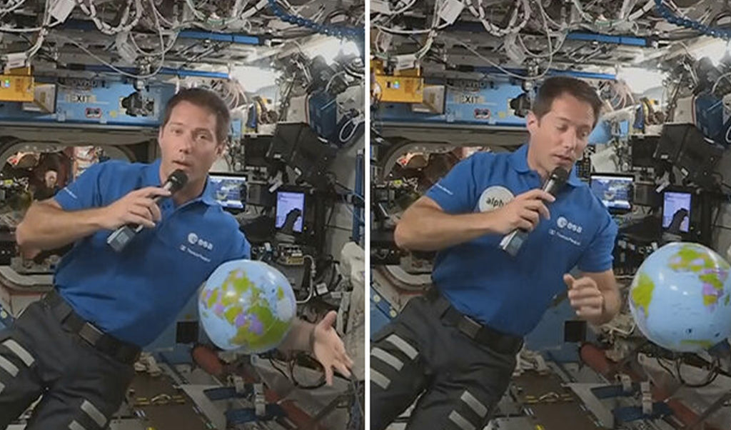Astronaut Thomas Pesquet, balloon in hand, speaks live from space: The liftoff was an incredible feeling