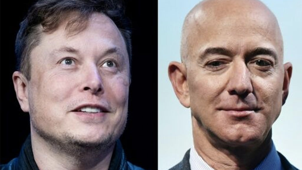 Musk and Bezos compete for space for their satellite constellations