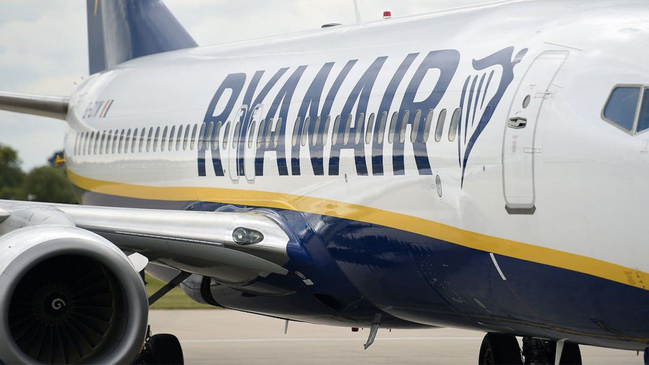 A Ryanair plane had to land Monday night at London's Stansted airport after a written message was found in the bathroom, indicating the presence of a bomb on board.