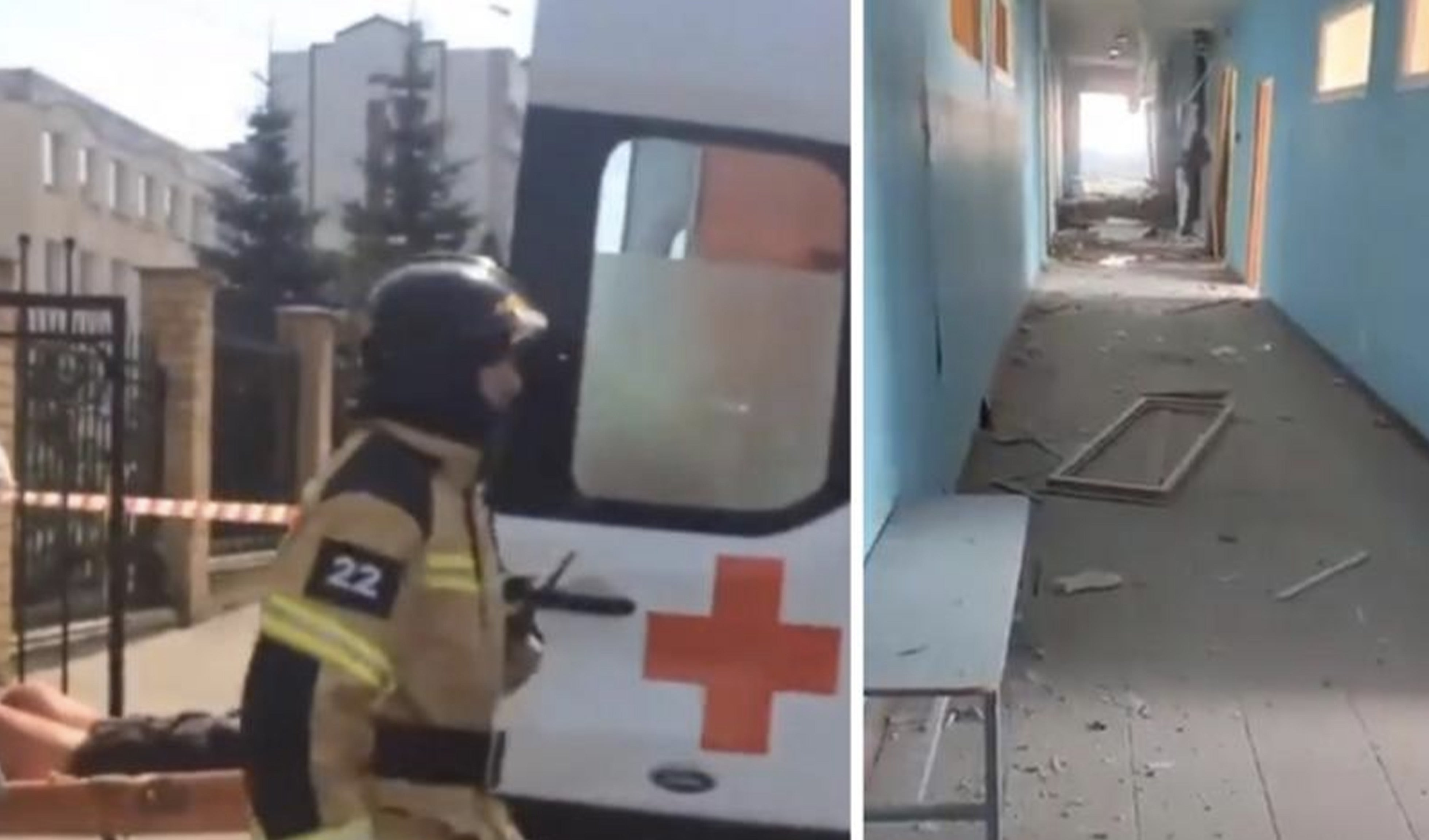 At least 9 dead and several injured in a school shooting in Russia, the shooter is a teenager.