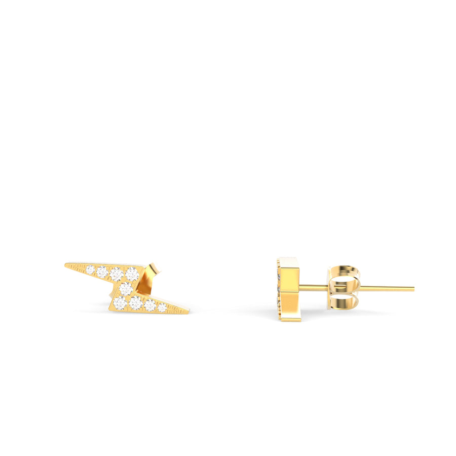 Diamond Twinkling Lighting Bolt Studs