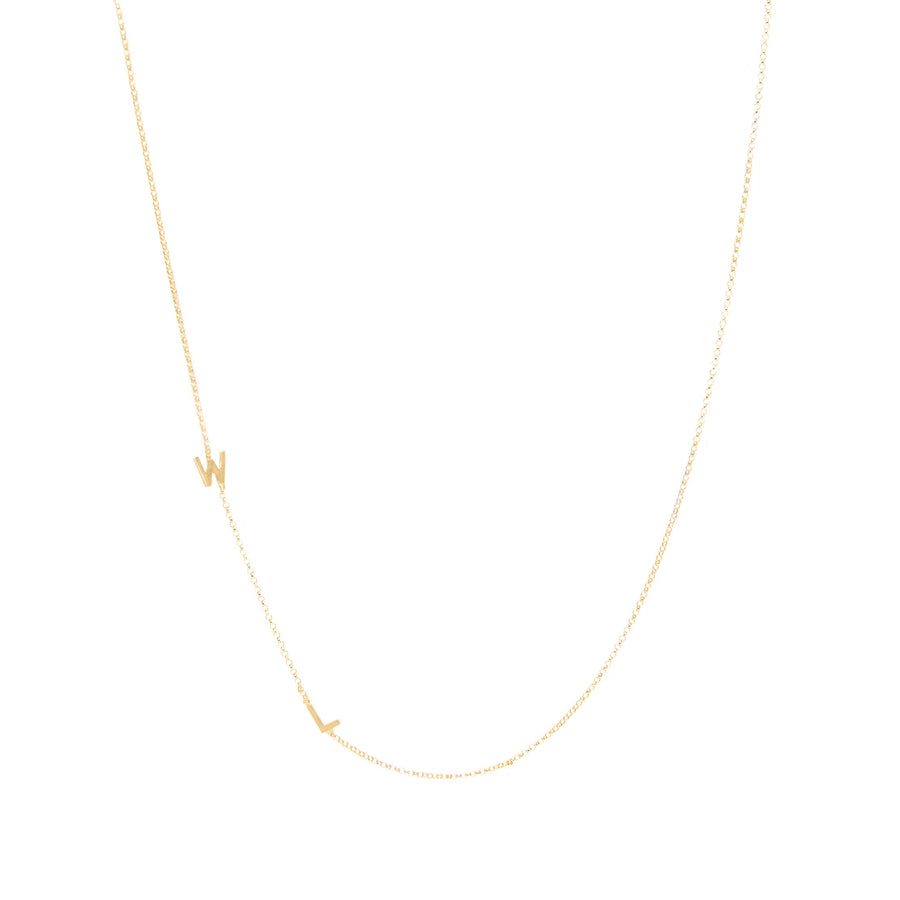14k Gold Double Initial Necklace