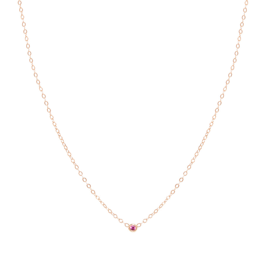 10k Yellow Gold October BirthStone  Bezel Necklace