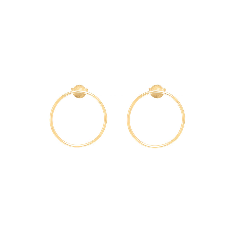 10k Yellow Gold Forward Facing Hoops