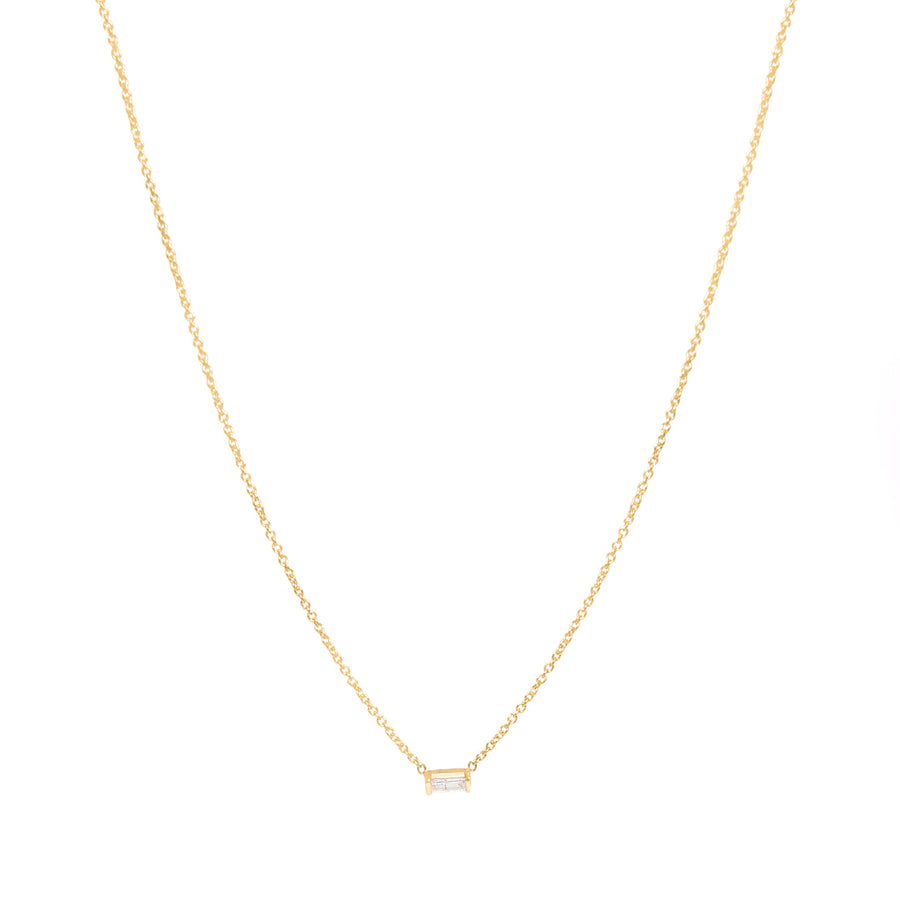 10K Yellow Gold Baguette Necklace