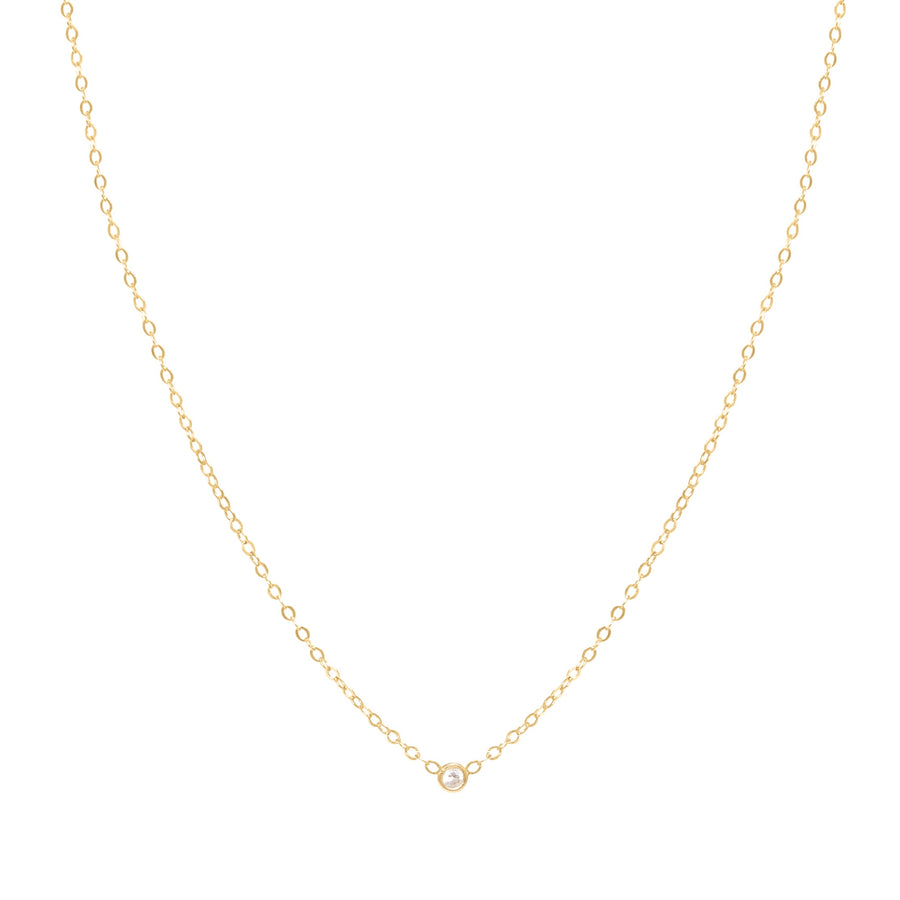 10k Yellow Gold Diamond Bezel Necklace