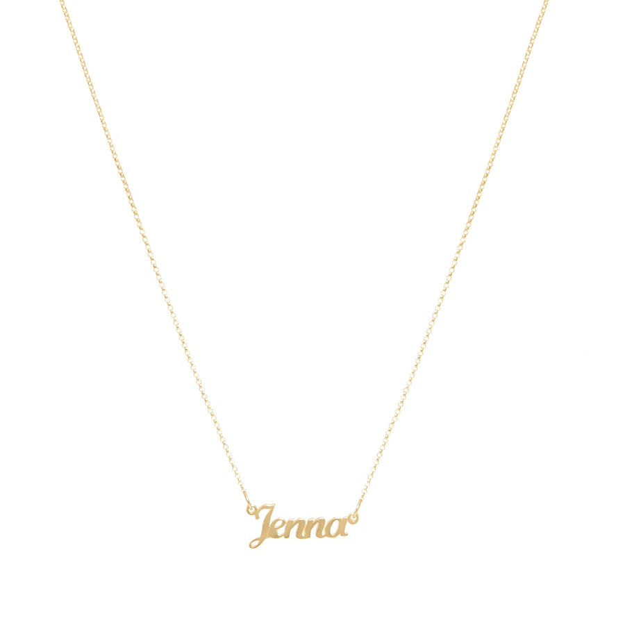 10k Yellow Gold 4 Initial Name Necklace