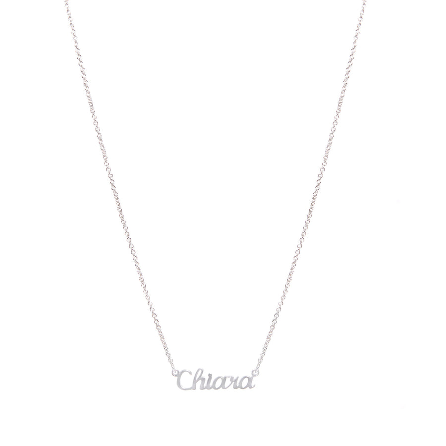 Silver Sterling Name Necklace