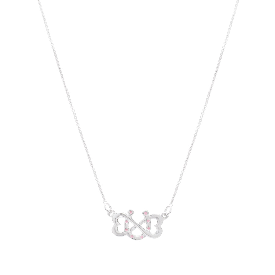 Pink Dotted Infinite Luv Necklace
