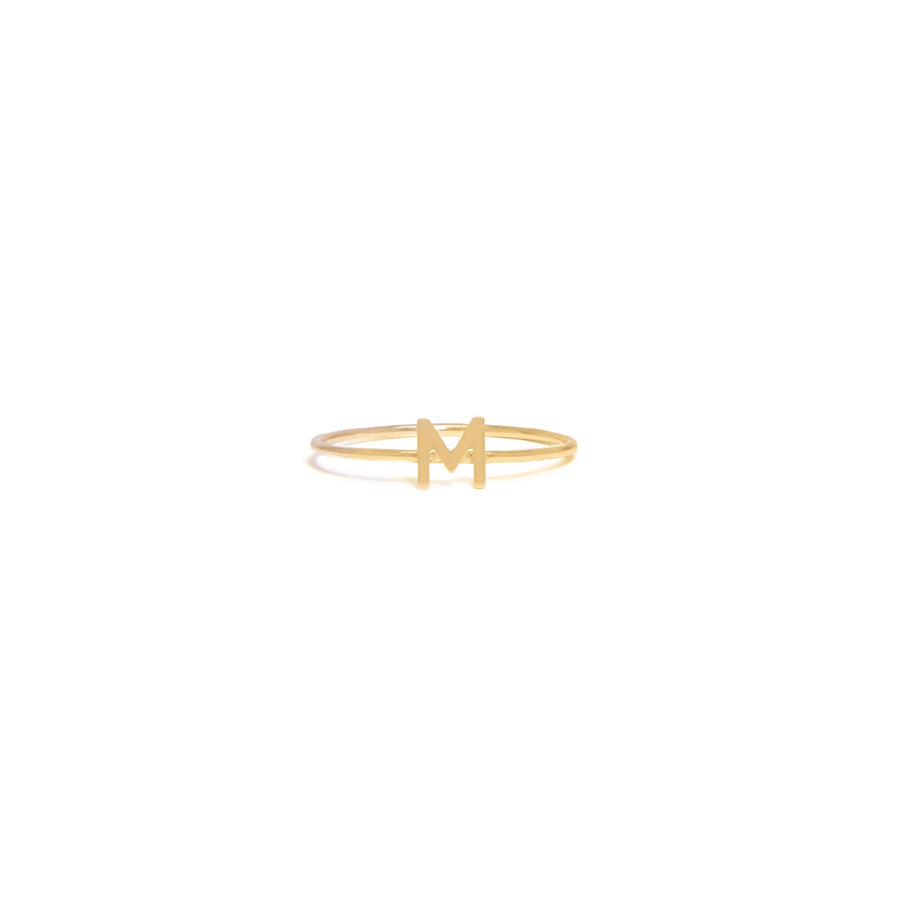 10k Yellow Gold Stackable Initial Ring