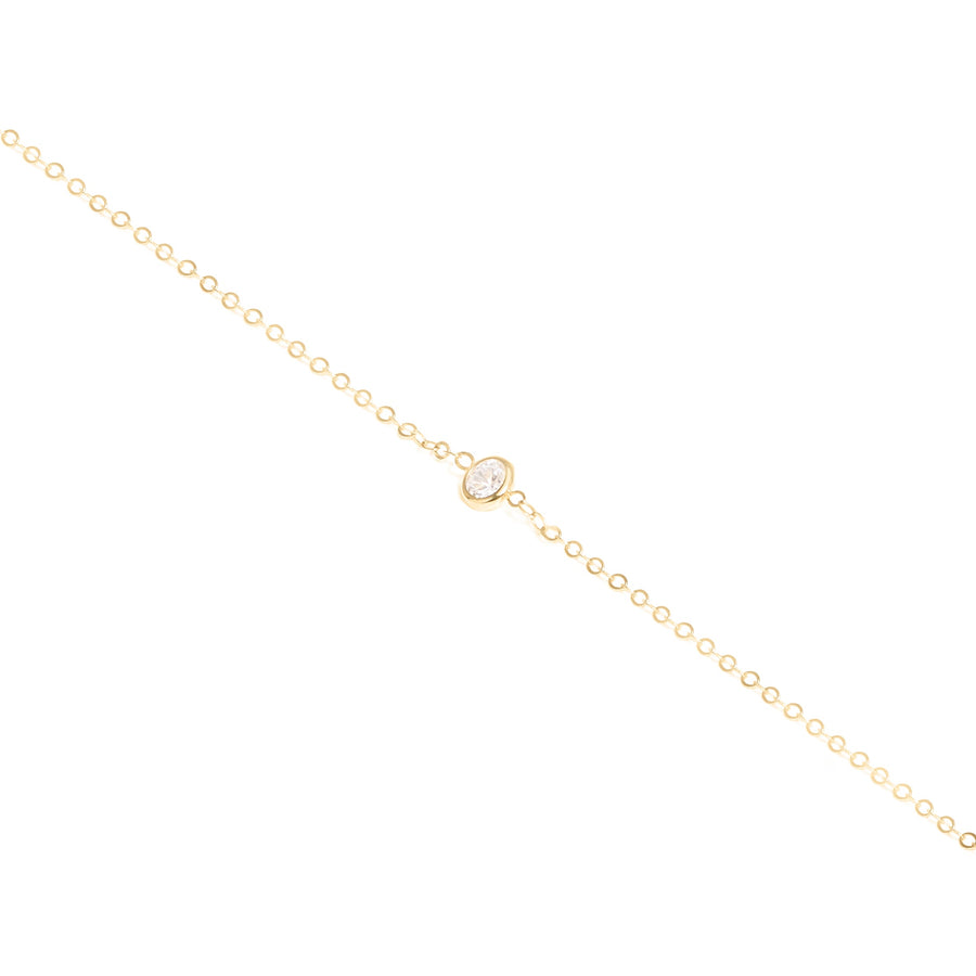 10k Yellow Gold Dainty Diamond