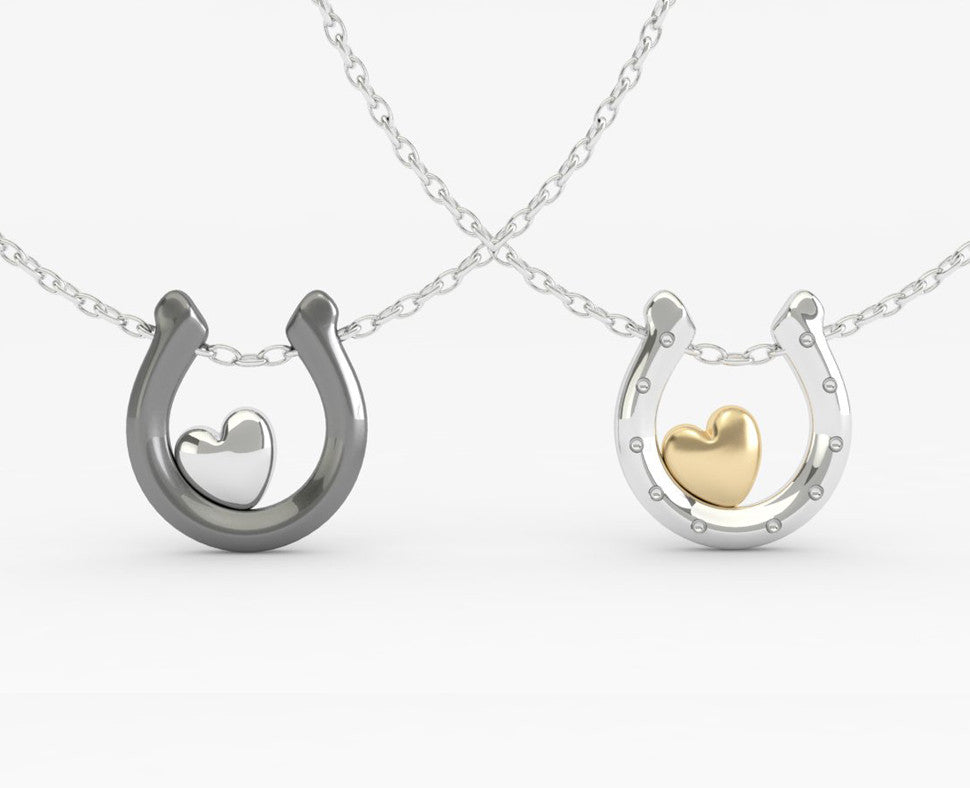 Golden Horseshoe Pendant - PRICES LISTED ARE FOR SILVER - PLEASE REQUEST A QUOTE FOR GOLD CHOICE
