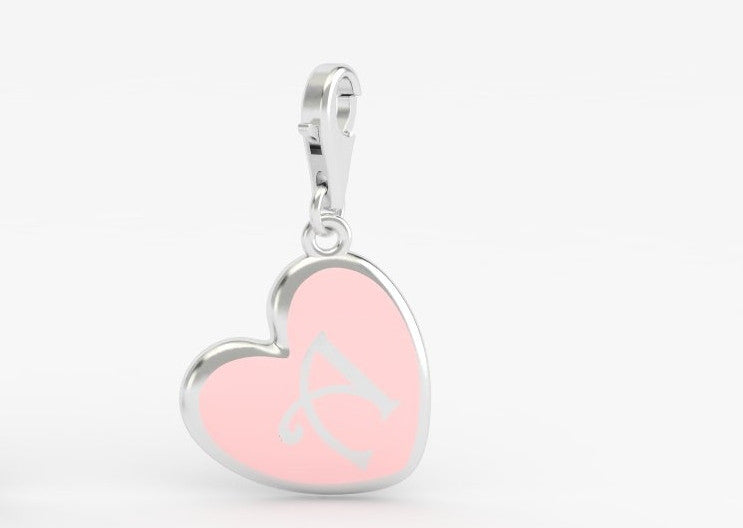 Luv Letter 'A' Bridle Charm Heart