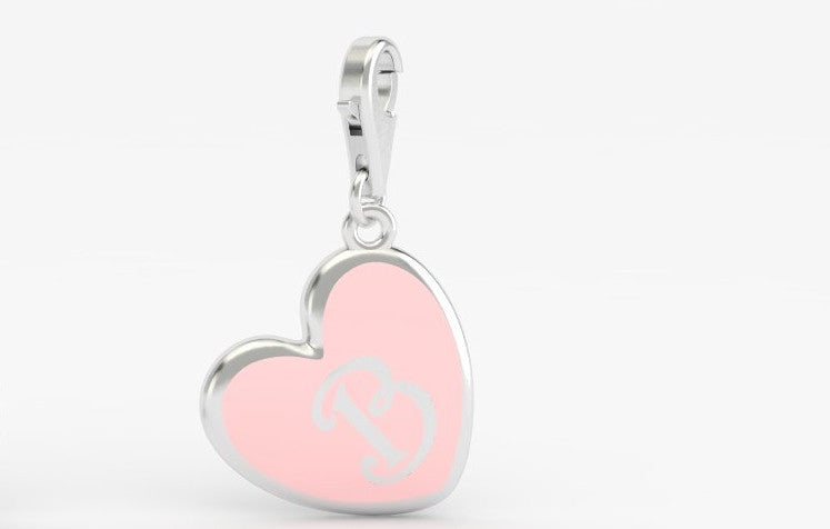 Luv Letter 'B' Bridle Charm Heart