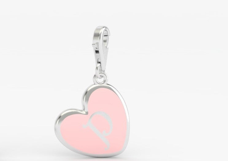 Luv Letter 'P' Bridle Charm Heart