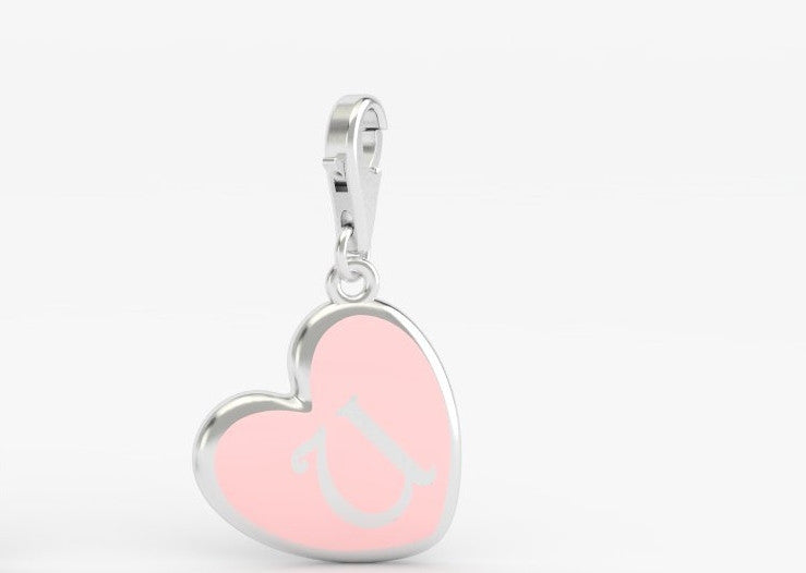 Luv Letter 'U' Bridle Charm Heart