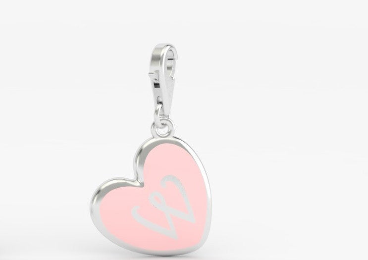 Luv Letter 'W' Bridle Charm Heart
